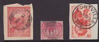 Tasmania PONTVILLE postmark group x 3