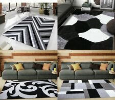 New Modern Grey Area Rugs Large Small Carpets Runner Living & Bedroom Floor Mats