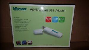 MICRONET SP907GK WIRELESS LAN USB ADAPTER. 802.11b/802.11g