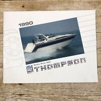 Vintage Boat Dealer Sales Brochure Thompson 1990 Boating Advertising Daytona