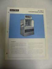Vintage Original Altec A7-500-8 Loudspeaker System Specification Sheet (A3)
