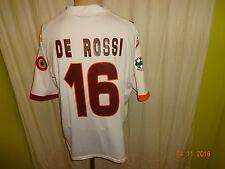 """As ROMA KAPPA Trasferta Maglia 2007/08 """"vento"""" + N. 16 de Rossi Taglia L-XL TOP"""