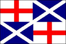 Naval Ensign 1659     5x3 house flag  united kingdom england scotland