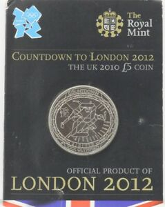 Lead up to 2012 Olympics Official £5 Brilliant Uncirculated Coin