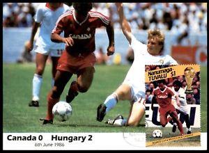 Masterfile Mexico 86 Postcard - (6 June 1986) Hungary vs Canada