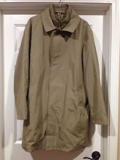 jos a bank travelers collection Tan overcoat top coat removable liner 42 42R )