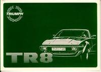 Triumph Tr8 Official Driver'S Handbook Glovebox