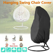 Outdoor Garden Hanging Swing Chair Cover Waterproof Rattan Egg Seat UV Protector