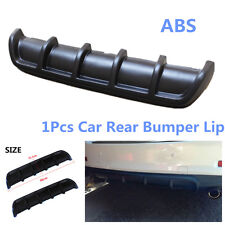 "Matte Black 25""x5"" Car Rear Shark Fin Style Curved Protector Bumper Lip Diffuser"
