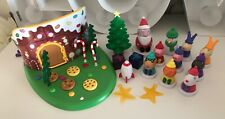 Rare Christmas Peppa pig woodland playset figures winter tree presents candy cat