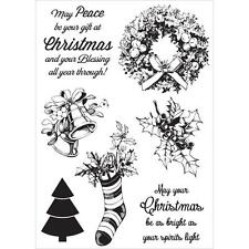 New kaisercraft RUBBER STAMP clear cling CHRISTMAS SILENT NIGHT Free US ship
