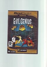 EVIL GENIUS - PC GAME - FAST POST - COMPLETE WITH MANUAL