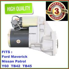 Starter Motor fit Nissan GQ Patrol engine TB42S 4.2L 88-97 NEW WARRANTY