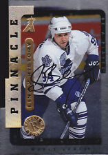 96-97 Be A Player Sergei Berezin Auto SILVER Link 2 History Maple Leafs 1996 RC