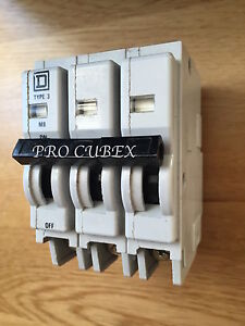 SQUARE D QOE  20A 3 TRIPLE POLE MCB TYPE 3 M9 BS3871