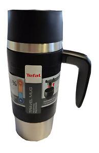 Tefal Travel Mug Thermobecher Reisebecher Isolierbecher Becher Schwarz 0,36 L