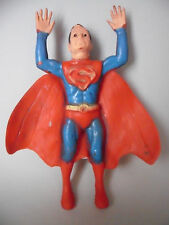 SUPERMAN ANTIGUA FIGURA BOOTLEG DE GOMA DE 16 CM AÑOS 70
