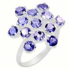 3.4cts Iolite 925 Sterling Silver Ring Jewelry s.8 R5097I-8