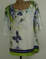 Lagenlook Blumen Longshirt Tunika Shirt Bluse Oberteil T-Shirt Classic 44-46