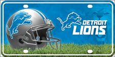 """Detroit Lions Metal License Plate 6"""" x 12"""" NFL Officially Licensed"""