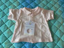 NUOVO Petit Bateau maglietta camicina guimpe bimba in cotone rosa 6 mesi