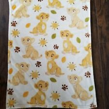 NICE Disney Baby Lion King Simba Nala Plush Blanket Lovey Paw Print Sun Leaves