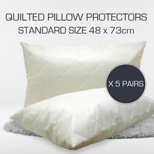 BULK BUY - PROMOTION 10 x Quilted STANDARD Size Pillow Protectors 48 cm x 73 cm