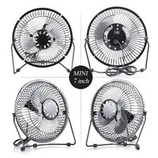 "UK USB FAN - Metal 7'' 4"" PORTABLE COOLING DESK QUIET FAN FOR COMPUTER LAPTOP PC"