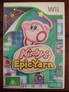 Kirby's Epic Yarn Wii. PAL