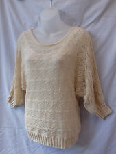 Size 12 Top Stretch Knit Batwing 3/4 Sleeve Casual Evening Party Work FREE POST