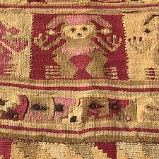 Pre Columbian Chimu Wari Loincloth Textile Vibrant Colors Fine Weaving