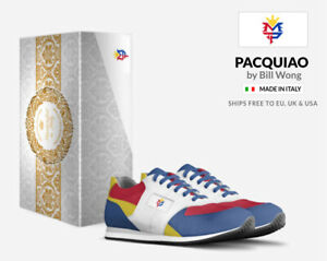 MANNY PACQUIAO Mens Italian Leather Sneakers Hand Made in Italy Philippines