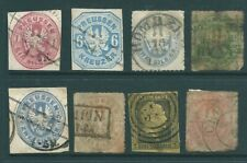 PRUSSIA early used stamp and postmark collection