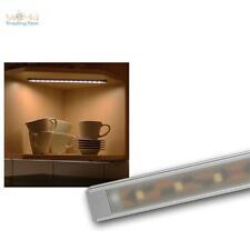 Alu-Lichtleiste Superflach, 15 SMD LEDs warmweiß Unterbauleuchte Küchenleuchte