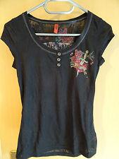 Mehrfarbige ärmellose Damen-T-Shirts mit Rundhals
