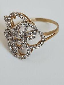 Diamant Ring 585er 14K Gold Größe 61