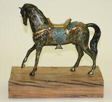Original Milo Gorgeous Bust Horse Head Bronze Handmade Sculpture Home Art Décor