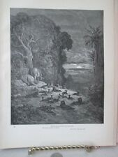 Vintage Print,7TH EVENING IN EDEN,Dore,Paradise Lost,1886