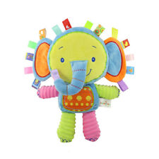 Infant Tags Elephant Lovey Comforter&Soft Toy for Baby Toddler ,Built-in Bell