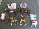 Breyer Horses Figures Multiple Breeds & Colors - lot of 4 with colts, blankets