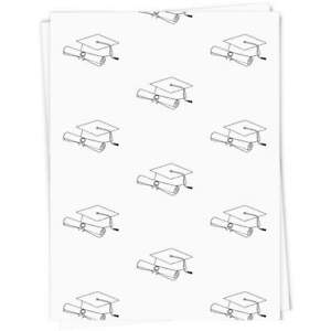 'Graduation Hat & Scroll' Gift Wrap / Wrapping Paper / Gift Tags (GI024690)