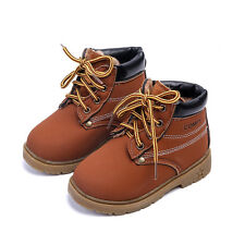 Baby Toddler Boys Martin Boots Children Kids Fall Winter Short Shoes Size 5-14