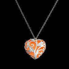 Unique Magical Fairy Glow in the Dark Pendant Locket Heart Luminous Necklace