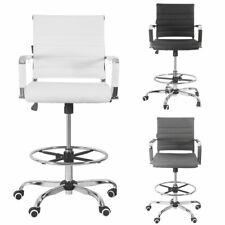Office Drafting Chair Stool Ergonomic Pu Computer Height Adjustable Swivel
