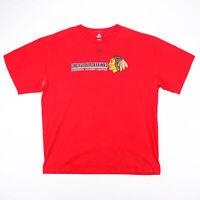 MAJESTIC NHL Chicago Blackhawks Red Sports Short Sleeve T-Shirt Mens XL