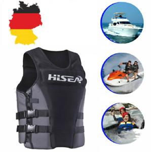 NEU Erwachsene Schwimmweste PFD Premium Neopren Weste Wasserski Wakeboard BLACK