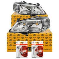 Hella Scheinwerfer Set Opel Astra G Bj. 98-09 inkl. Osram H7/HB3 für elektr. LWR