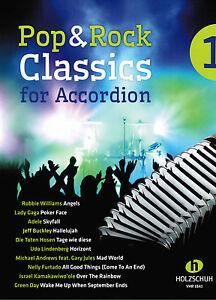 Akkordeon Noten : Pop & Rock Classics for Akkordion 1 - mittelschwer
