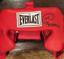 George Foreman Signed Auto Everlast Boxing Headgear JSA COA