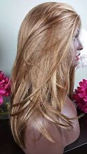 Beautiful Blonde Mix/Brn Nape Lace Front Wig Soft Long Layers